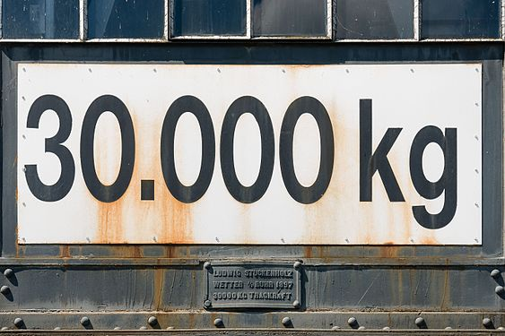 Cologne Germany Max-Load-Sign-at-Harbour-Crane-34-01.jpg