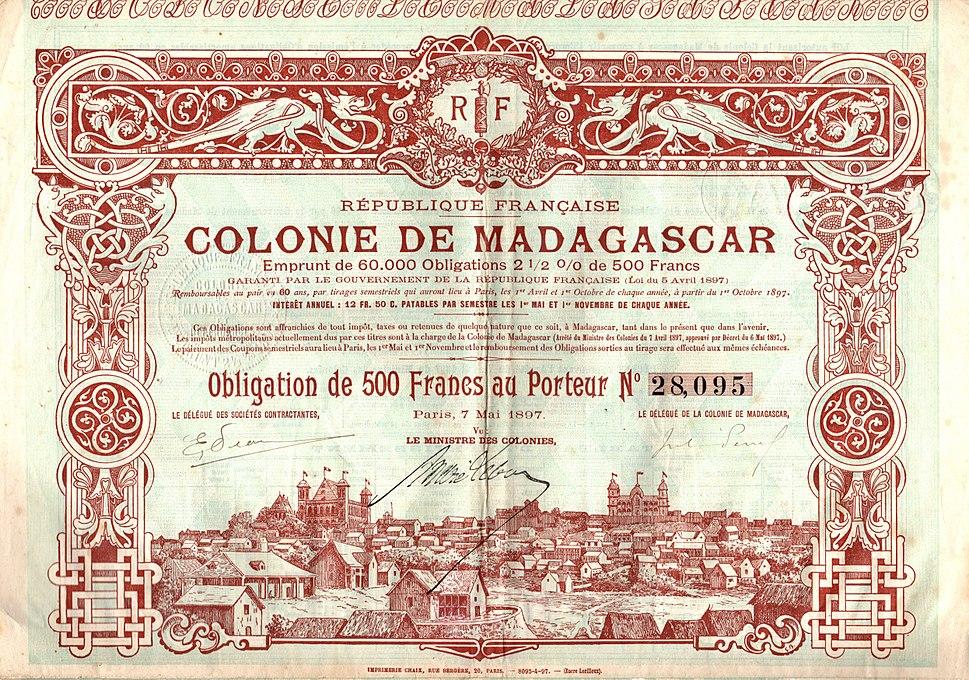 Colonie de Madagascar 1897