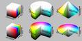 Color solid comparison hsl hsv cube cylinder cone.png