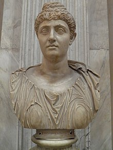 Colossal portrait of Faustina the Elder, from the Pantanello at Hadrian's Villa, 138-140 AD, Vatican Museums, Rome (9459345263).jpg