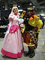Comikaze Expo 2011 - Princess Peach and pal (6324628703).jpg
