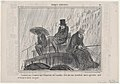 Commençant à trouver que l'imperiale des omnibus..., from Croquis Parisiens, published in Le Charivari, February 10, 1858 MET DP876683.jpg