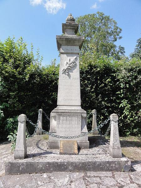 Commenchon (Aisne) monument aux morts