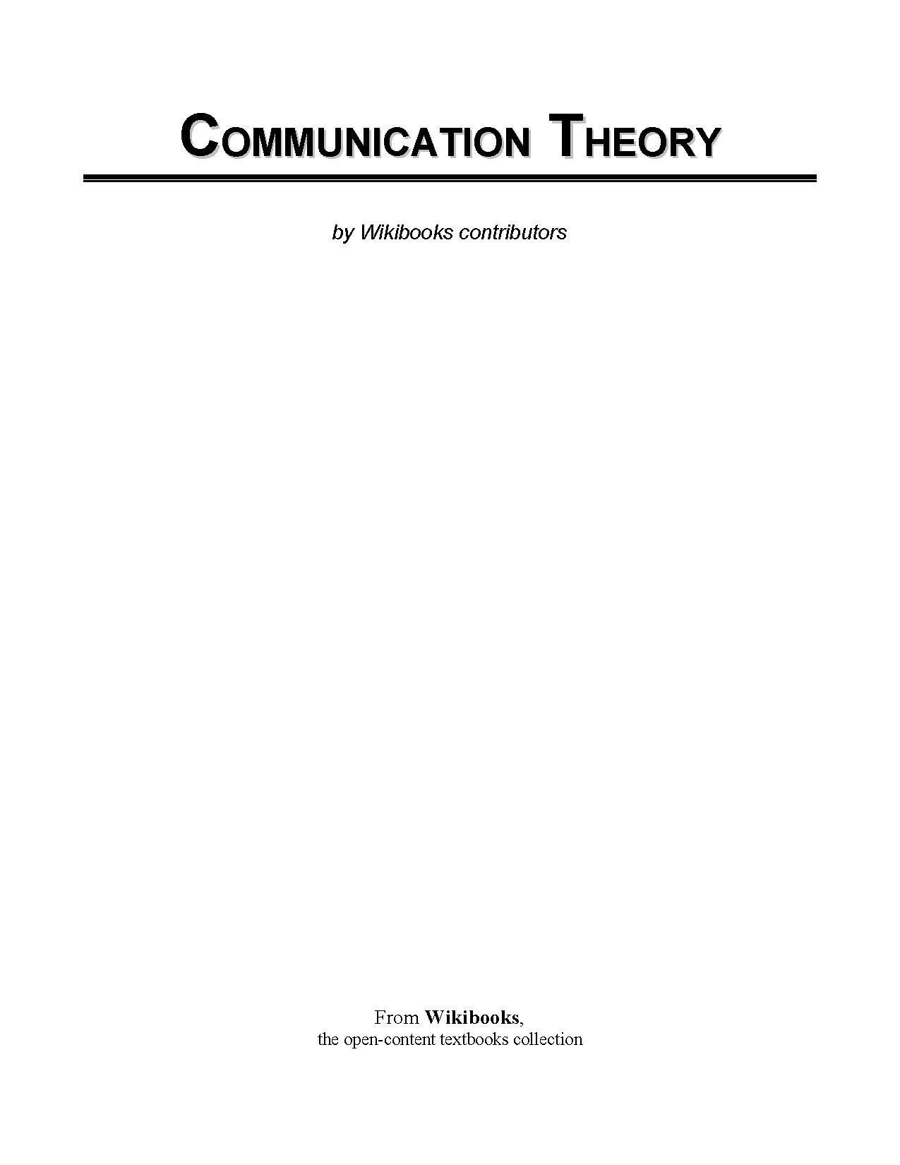 File:Communication Theory printable version.pdf - Wikibooks, open ...