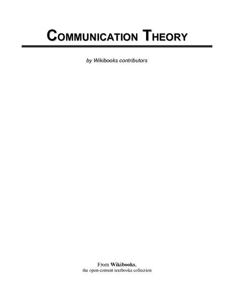 File Communication Theory