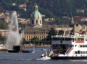 English: The town of Como (Italy). Italiano: L...