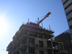 InterContinental San Francisco - Image: Construction of the Inter Continental Hotel San Francisco 2006 10 28