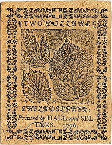 Continental Currency $2 banknote reverse (May 9, 1776).jpg