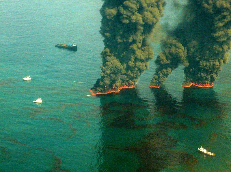 BP oil spill burn cleanup