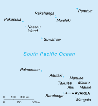 Netball in the Cook Islands - Image: Cook Islands CIA WFB Map