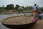 Coracles used for crossing the Tungabhadra.JPG