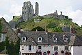 Corfe Castle, from the church - geograph.org.uk - 1752075.jpg