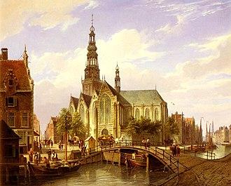 Cornelis Christiaan Dommersen - Image: Cornelis Dommelshuizen A Capriccio View Of Amsterdam
