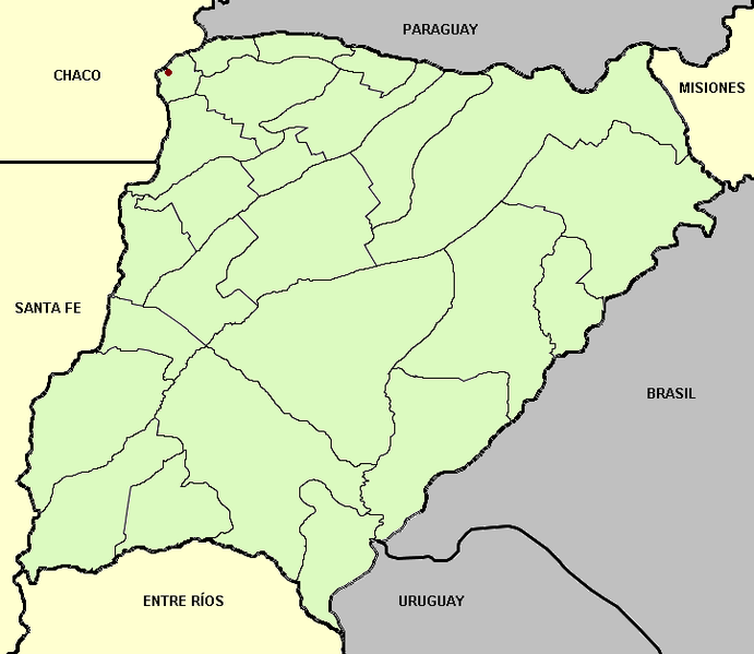 Payl:Corrientes province (Argentina), departments and capital.png