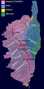 Carta Geologica della Corsica.