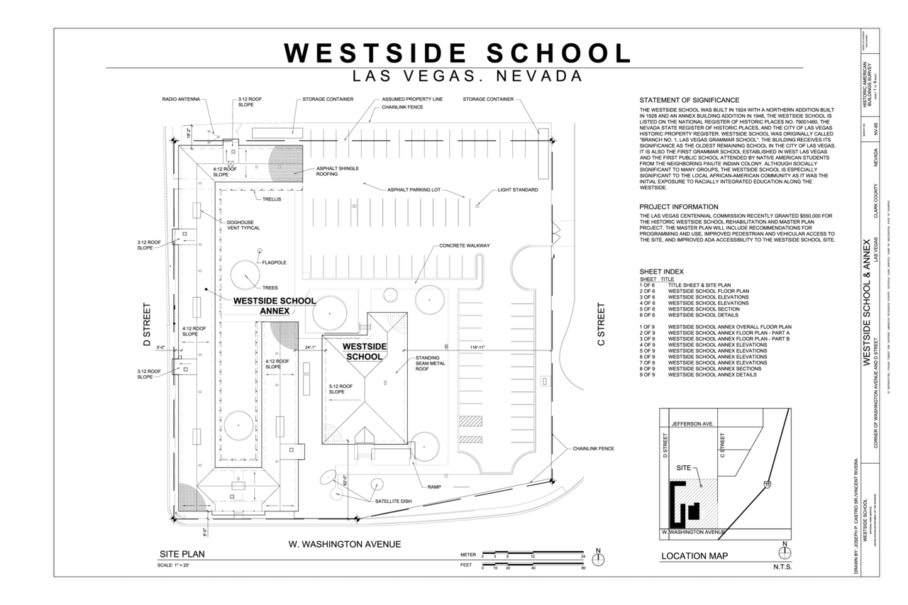 File Cover Sheet And Site Plan Westside School Corner