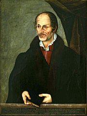 Portrait of Philipp Melanchthon.