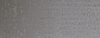 Duncan Campbell (Unionist MP) - Duncan Campbell's name on the Soldiers' Tower at the University of Toronto
