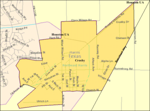 Crosby, Texas - Map of Crosby CDP