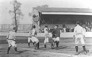 Croydon Common Athletic Ground -  A Croydon Common F.C. home match against Luton Town F.C. at Croydon Common Athletic Ground, sometime between 1909 and 1911