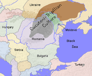 Haplogroup R1a - Cucuteni Trypillian culture boundaries