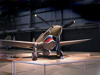 Flying Tigers - P-40 Warhawk painted with Flying Tigers shark face at the National Museum of the United States Air Force