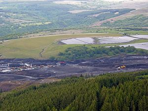 Blaengwrach - Image: Cwmgwrach opencast and upper Neath valley