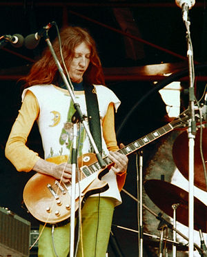 Daevid Allen - Allen performing in Hyde Park, London, 1974