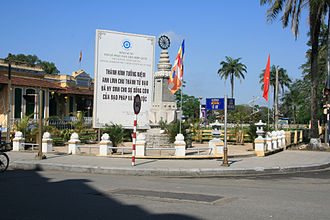 Huế Phật Đản shootings - A monument to the shootings.
