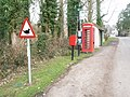 Damerham, postbox No. SP6 243 and phone - geograph.org.uk - 1164017.jpg