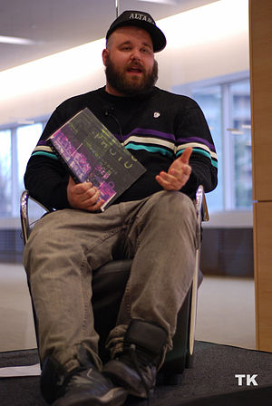 Fucked Up - Abraham at an April 2010 literacy event