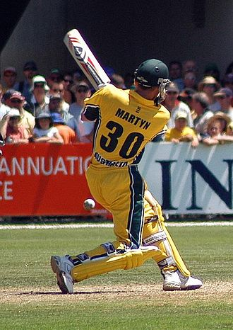 Bangladeshi cricket team in Australia in 2003 - Despite returning in the series for the first time since missing the 2003 Cricket World Cup because of a broken finger, Damien Martyn (pictured) scored 91.