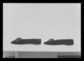 Damsko till vänster fot av svart sidenatlas - Livrustkammaren - 60940.tif