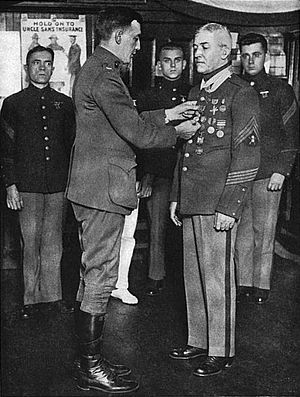 Daniel Daly - Daly being awarded the Médaille militaire.