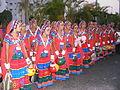 Dancers wearing traditional dress of the Banjara Lamadi or Lambani tribe in Andhra Pradesh DSCF7370 (10).JPG