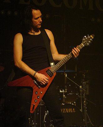 Niklas Sundin - Niklas Sundin with his Gibson Flying V guitar