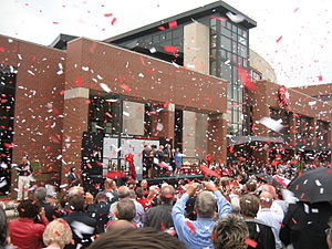 David Letterman - Letterman's association with Ball State University was recognized by a renaming ceremony for their David Letterman Communication and Media Building in 2006.