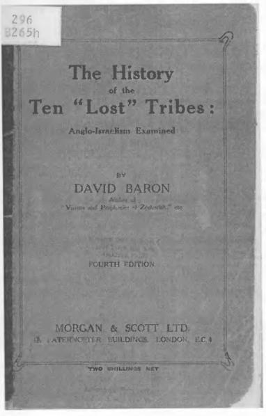 "File:David Baron – The History of the Ten ""Lost"" Tribes.djvu"