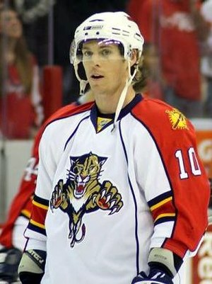 David Booth (ice hockey) - Booth during his tenure with the Panthers.