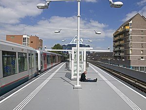 De Terp metro station - The platform