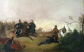 Death of Dionizy Czachowski during battle of Wierzchowiska in 1863.PNG