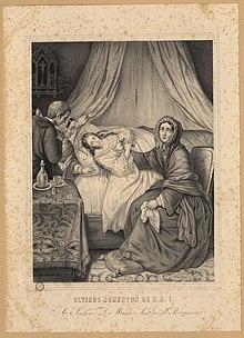 Resultado de imagem para mulher leito de morte