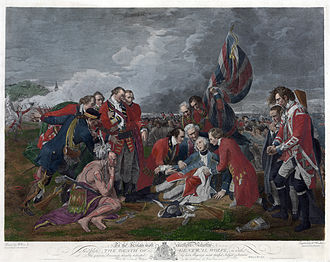 John Boydell - Boydell eventually made £15,000 from William Woollett's 1776 print of Benjamin West's Death of General Wolfe (1770), much of it from exports.