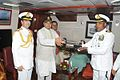 Defence Minister Arun Jaitely receiving a memento during commissioning of INS Kamorta.jpg