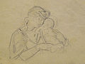 Dehodencq A. - Pencil - Mère et enfant - 10x8cm.jpg
