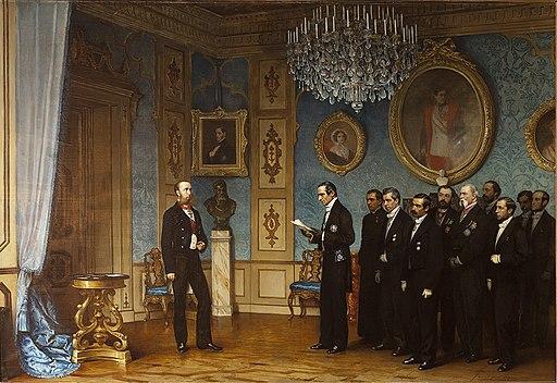Dell'Acqua Ernennung Maximilians zum Kaiser Mexikos