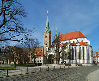 Augsburg Cathedral Church in Bavaria, Germany