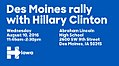 Des Moines rally with Hillary Clinton August 10 (a).jpg