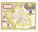 Map of the kingdom of Galicia (16th century)