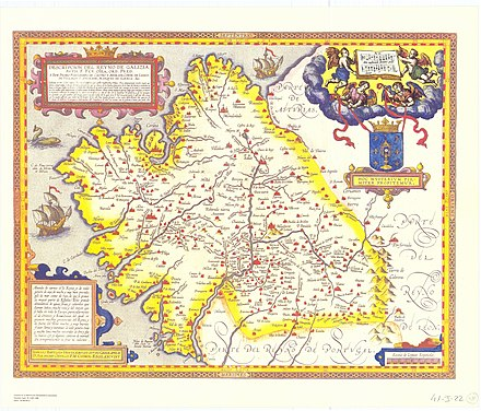 The Kingdom of Galicia in 1603 Descripcion Reyno de Galizia de Ojea.jpg